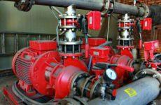 Монтаж насосной станции пожаротушения